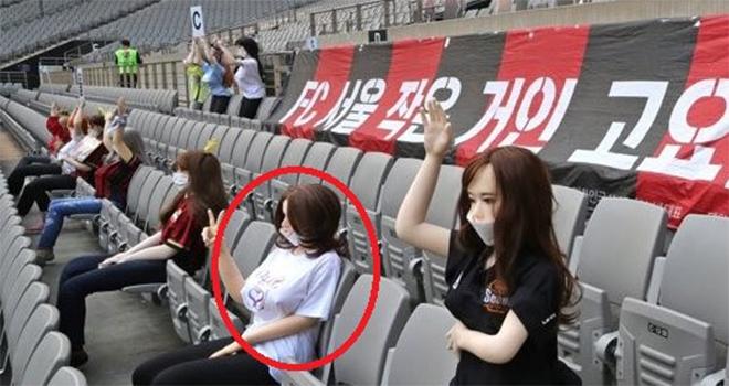 Bong da, Tin tuc bong da, Đội bóng Hàn Quốc dùng búp bê người lớn làm khán giả, bóng đá, tin tức bóng đá, tin bong da, tin bóng đá, K League, FC Seoul, búp bê người lớn