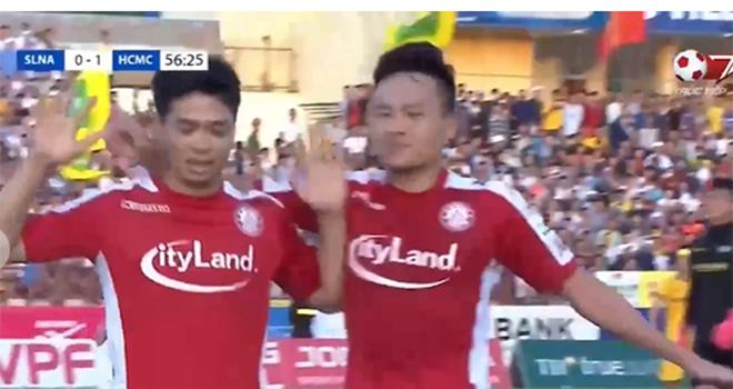 Ket qua bong da, SLNA vs TPHCM, Công Phượng ghi bàn vào lưới SLNA, V League 2020, Công Phượng, Nguyễn Công Phượng, kết quả V League, bóng đá Việt Nam, BXH V League, kqbd