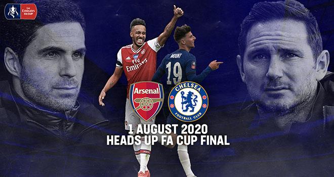 Truc tiep bong da, Arsenal vs Chelsea, Arteta vs Lampard, Đại chiến cho tương lai, trực tiếp chung kết cúp FA, Arsenal đấu với Chelsea, Lịch thi đấu chung kết cúp FA, FPT