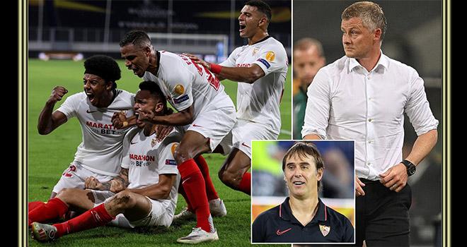 Ket qua bong da, Sevilla vs MU, Kết quả Cúp C2, MU dứt điểm siêu tệ, Ole còn non, kết quả bóng đá, video Sevilla 2-1 MU, Kết quả Europa League, MU, kết quả MU, Cúp C2, C2, Ole, Lopetegui