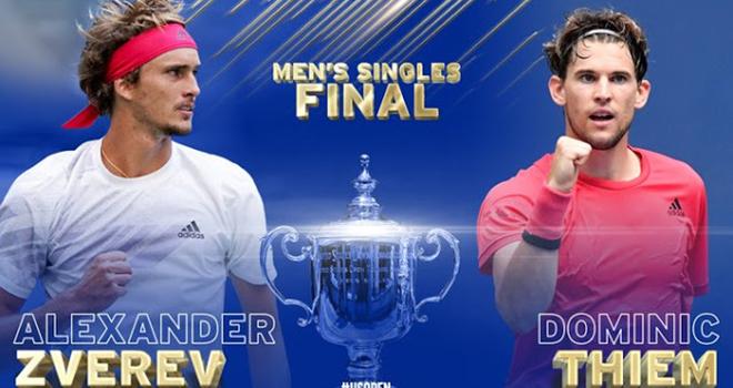 Lich thi dau US Open hom nay, Thiem vs Zverev, TTTV, Lịch thi đấu Mỹ mở rộng, Thiem đấu với Zverev, Zverev đấu với Thiem, truc tiep tennis, trực tiếp Mỹ mở rộng, US Open