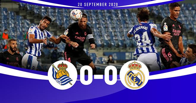 Ket qua bong da, Sociedad vs Real Madrid, Real Sociedad 0-0Real Madrid, BXH La Liga, kết quả bóng đá La Liga vòng 2, kết quả Real Sociedad đấu với Real Madrid, kqbd