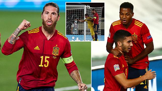 Tây Ban Nha 4-0 Ukraine: Sergio Ramos lập cú đúp, thần đồng Ansu Fati lập kỷ lục