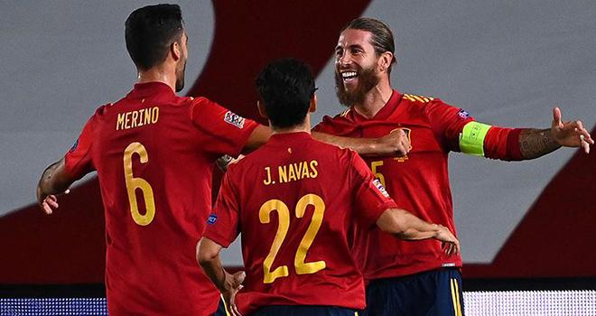 Ket qua bong da, Tây Ban Nha vs Ukraine, Nations League, Sergio Ramos lập cú đúp, Ansu Fati kỷ lục, Tây Ban Nha 4-0 Ukraine, kết quả Nations League, TBN vs Ukraine, kqbd