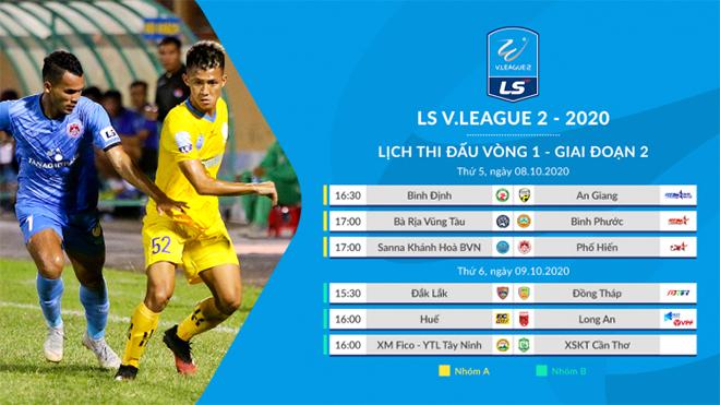 Lịch thi đấu bóng đá hôm nay, 8/10: Trực tiếp Vũng Tàu vs Bình Phước, Khánh Hòa vs Phố Hiến. BĐTV, TTTV