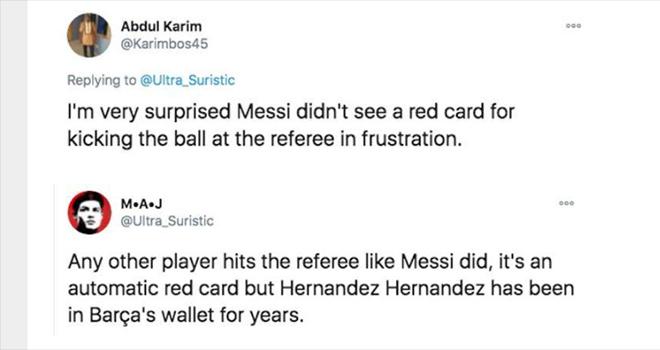 Ket qua Alaves vs Barcelona, Messi đá bóng vào trọng tài, Messi thoát thẻ đỏ, cộng đồng mạng, Messi, Lionel Messi, kết quả La Liga, kết quả bóng đá, Ronaldo, Barcelona
