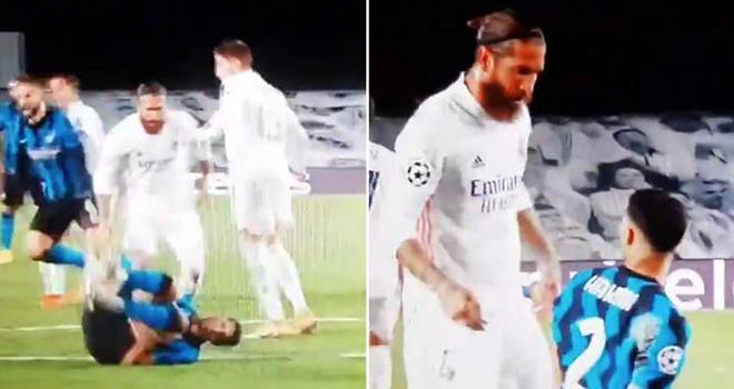 Real Madrid vs Inter, Ramos chửi thề, Hakimi, Sergio Ramos, Kết quả cúp C1, C1, cúp C1, Champions League, Real Madrid 3-2 Inter Milan, tin tức bóng đá, tin bóng đá