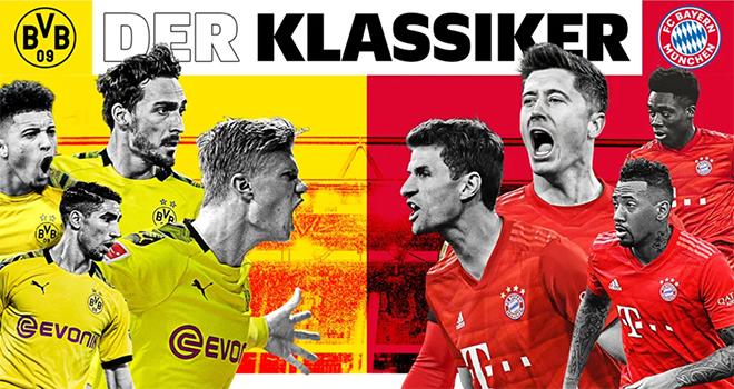 Link xem trực tiếp bóng đá. Borussia Dortmund vs Bayern Munich.Trực tiếp bóng đá Đức