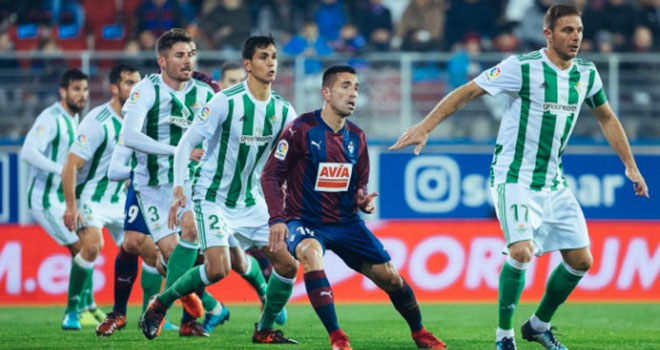 Real Betis vs Eibar, lịch thi đấu La Liga, truc tiep bong da