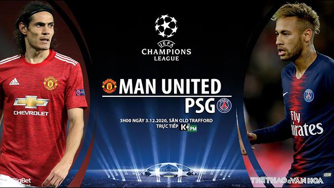 Lịch thi đấu bóng đá hôm nay. Trực tiếp MU vs PSG, Sevilla vs Chelsea. K+, K+PM