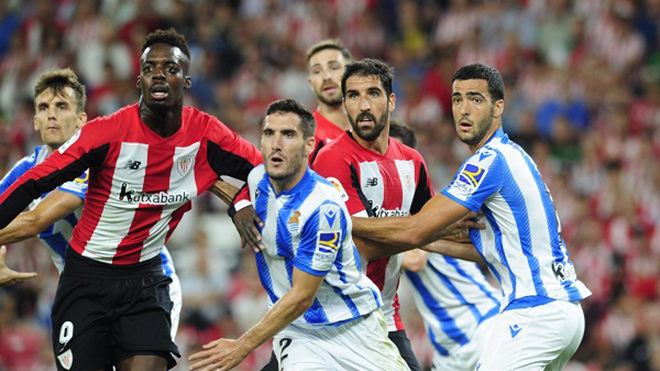 Bilbao vs Real Sociedad, trực tiếp bóng đá, lịch thi đấu bóng đá, La Liga