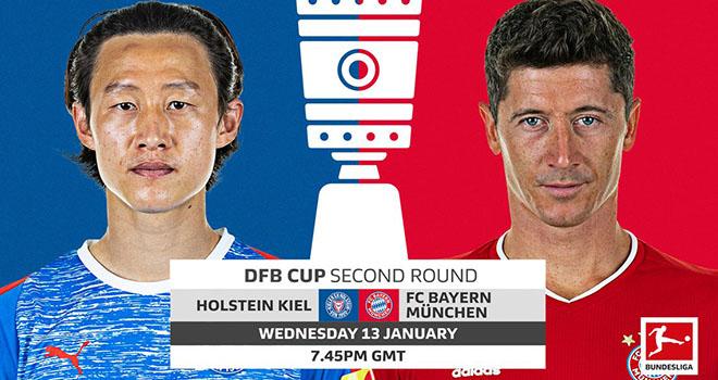Holstein Kiel vs Bayern Munich, trực tiếp bóng đá, lịch thi đấu bóng đá, Cúp quốc gia Đức