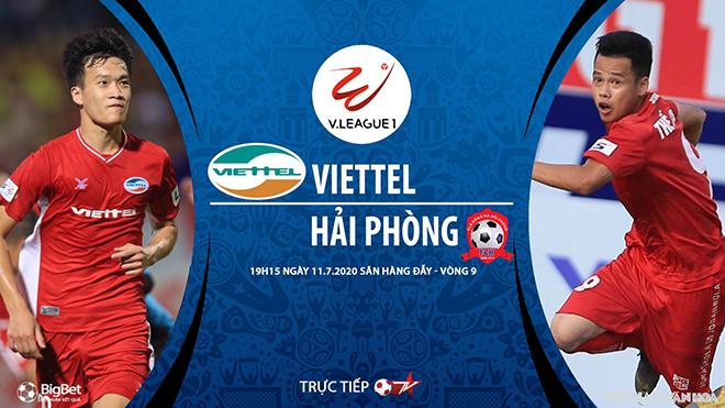Lịch thi đấu bóng đá hôm nay. Trực tiếp SLNA vs Bình Định, Viettel vs Hải Phòng. VTV6, BĐTV, TTTV