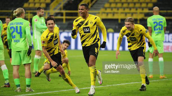 Dortmund vs Wolfsburg, kết quả bóng đá, kết quả Bundesliga