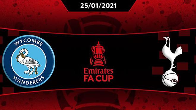 Lịch thi đấu bóng đá hôm nay. Trực tiếp Wycombe vs Tottenham. FPT, SCTV17