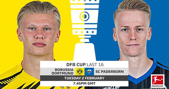 Dortmund vs Paderborn, lịch thi đấu bóng đá, trực tiếp bóng đá, cúp Đức