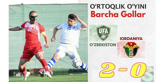 Uzbekistan 2-0 Jordan, kết quả Uzbekistan vs Jordan, kết quả giao hữu ĐTQG