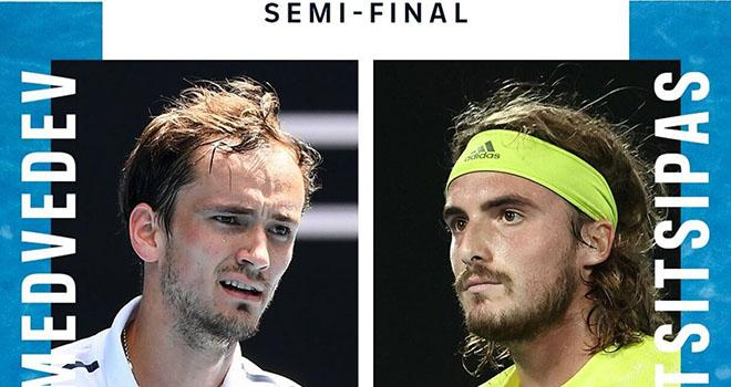 Trực tiếp tennis, Medvedev vs Tsitsipas, TTTV, Fox Sports Trực tiếp bán kết đơn nam Úc mở rộng 2021, Lịch thi đấu và trực tiếp Australila Open 2021 hôm nay,Úc mở rộng