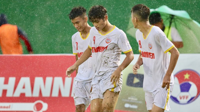 Lịch thi đấu bóng đá hôm nay. Trực tiếp U19 SLNA vs U19 Học viện Nutifood. VFF Channel