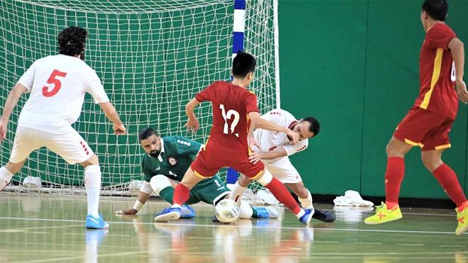 Kết quả bóng đá, Futsal Việt Nam dự World Cup, Kết quả play-off futsal World Cup, kết quả Lebanon vs Việt Nam, kết quả futsal, video Lebanon vs Việt Nam, VN dự World Cup
