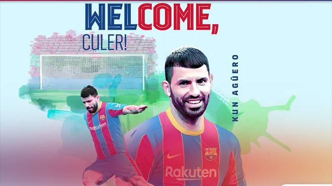 Aguero chính thức gia nhập Barcelona