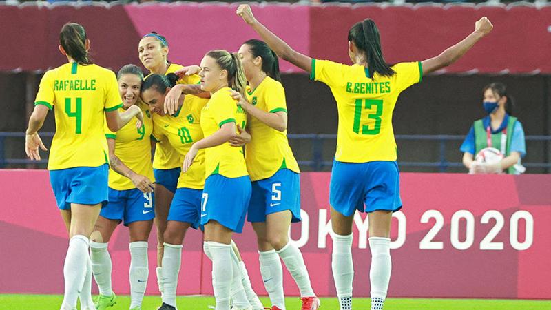 Trực tiếp bóng đá VTV5 VTV6: Nữ Brazil vs Zambia, Olympic 2021 (18h30 hôm nay)