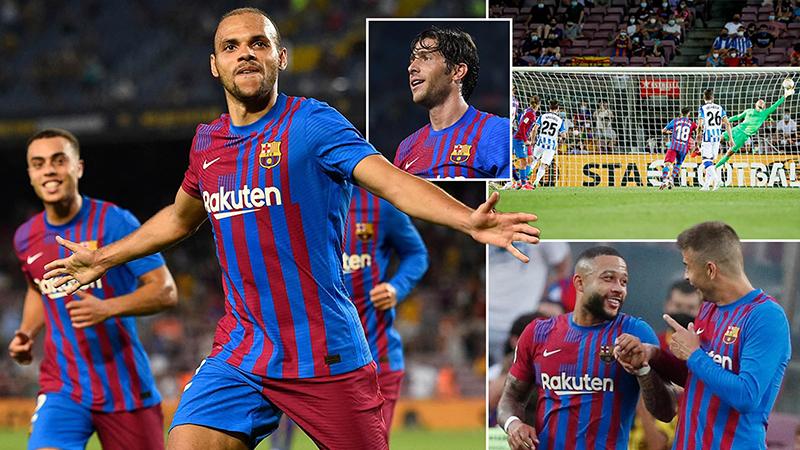 Barcelona 4-2 Sociedad: Không Messi, Braithwaite tỏa sáng, Barca mở màn suôn sẻ