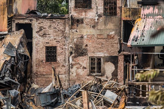 Điều tra vụ cháy nhà trọ trước viện nhi đường Đê La Thành khiến hai người thiệt mạng