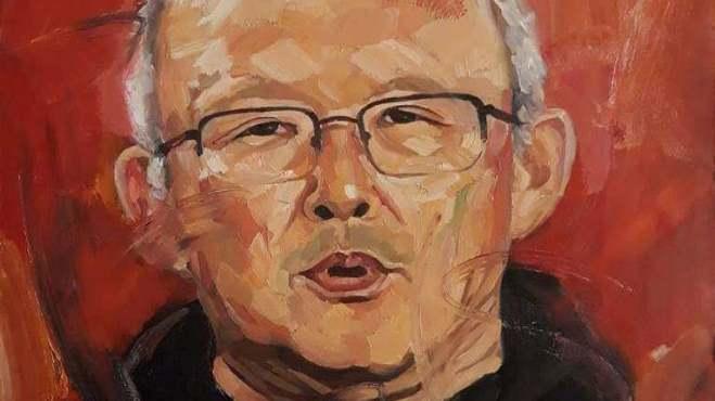 Đấu giá tranh chân dung HLV Park Hang Seo 'Người thầy của tôi'