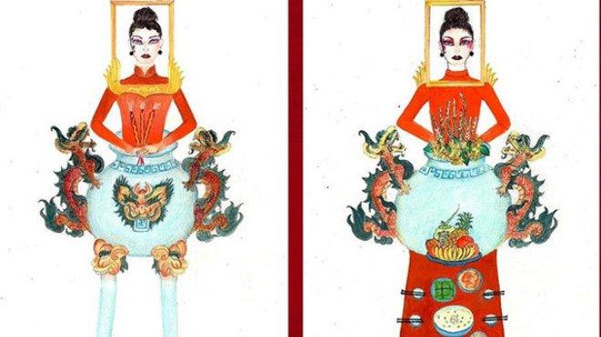 Thiết kế trang phục dân tộc 'Bàn thờ' cho Hoàng Thuỳ tại Miss Universe 2019 gây tranh cãi