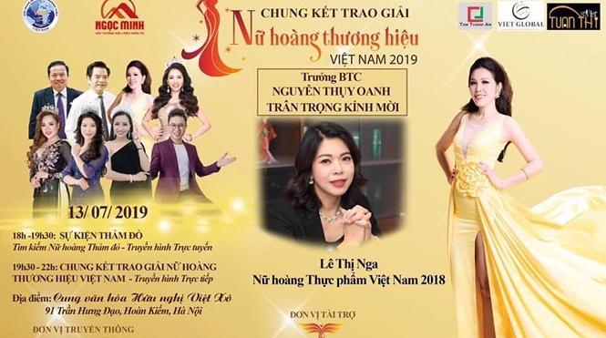 Hà Nội, Vĩnh Phúc không cấp phép 'Nữ hoàng thương hiệu Việt Nam 2019'