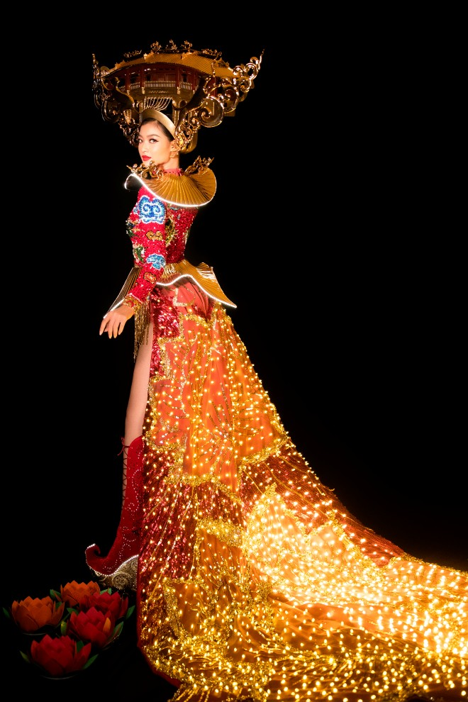 Á hậu kiều loan, quốc phục, chùa cầu, đêm hội an, đứt dây đèn, Miss Grand International 2019, Hoa hậu Hòa bình Quốc tế 2019