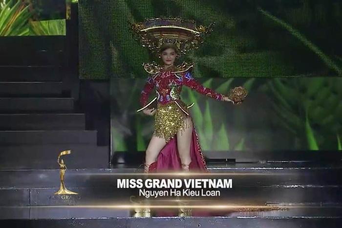 Á hậu kiều loan, quốc phục, đêm hội an, chùa cầu, đứt dây đèn, không phát sáng, Miss Grand International 2019, Hoa hậu Hòa bình Quốc tế 2019
