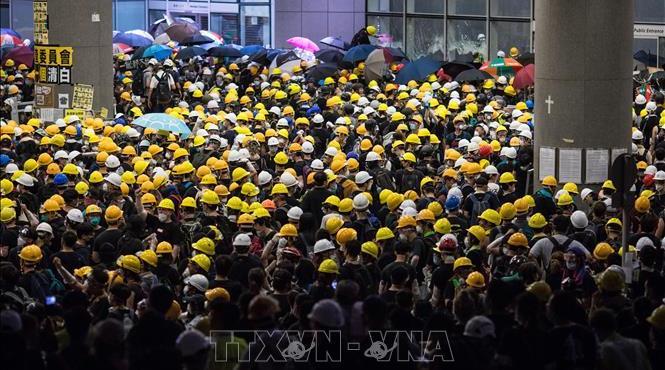 Chính quyền Hong Kong (Trung Quốc) lên án hành động phá hoại trật tự công cộng