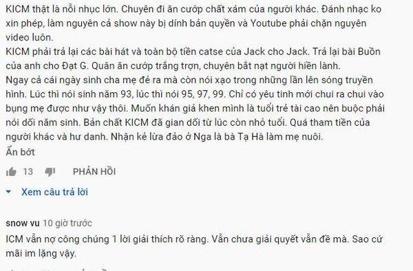 K-ICM, Jack, Jack K-ICM, jack K-ICM, Vi phạm bản quyền, vi phạm bản quyền, 360mobi, Jack K-ICM chấm dứt, Jack K-ICM tin mới, Jack J97, jack, j97, Youtube, bản quyền