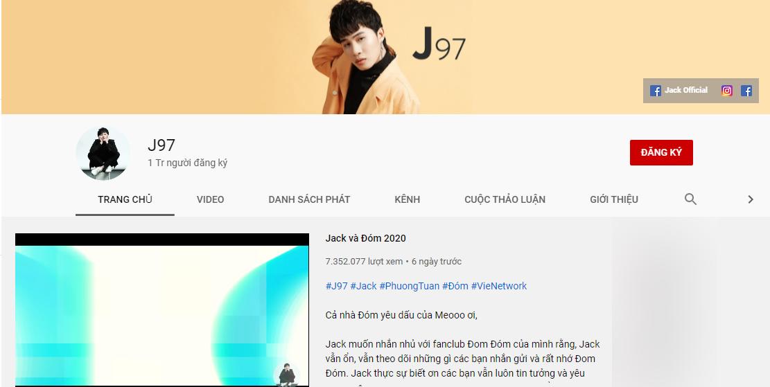 Jack, Jack đoạt nút vàng kênh Youtube, J97 đoạt nút vàng, kênh J97 của Jack, Jack K-ICM, jack, K-ICM, Jack comback, đom đóm, Jack youtube, j97, jack nút vàng nhanh nhất