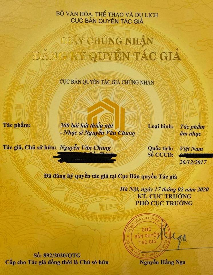 Nguyễn Văn Chung, nhạc sĩ Nguyễn Văn Chung, 300 bài hát thiếu nhi của nhạc sĩ Nguyễn Văn Chung, nhật ký của mẹ, Hiền Thục