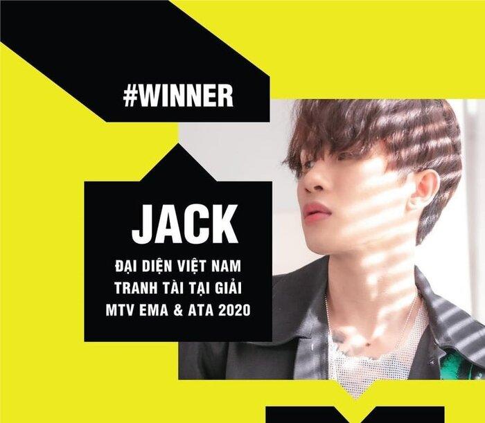 Jack, MTV EMA & ATA 2020, MTV Việt Nam, Hoa hải đường, bầu chọn