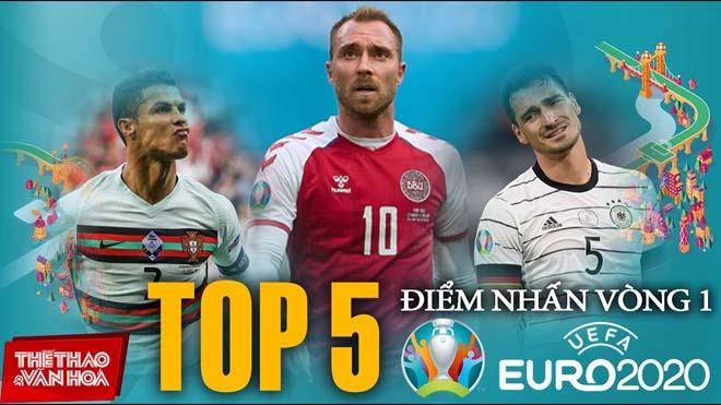 5 điểm nhấn đáng chú ý nhất của lượt đấu đầu tiên Euro 2020