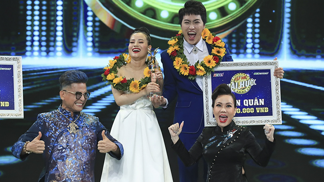 Từng suýt bị loại, Cẩm Hò – Đình Lộc bất ngờ đoạt giải quán quân 'Cặp đôi hài hước'