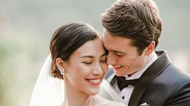 MC Hoàng Oanh khoe ảnh cưới rõ mặt chú rể, fan trầm trồ vì body vạm vỡ