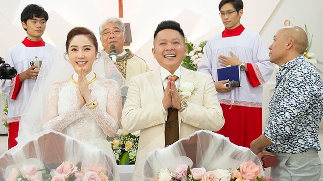 Ảnh cưới đẹp lung linh của Bảo Thy và ông xã doanh nhân Phan Lĩnh ở nhà thờ