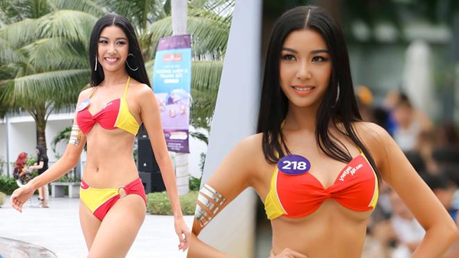 Thuý Vân tự tin trình diễn bikini sau sự cố lộ ngực ở 'Hoa hậu Hoàn vũ Việt Nam'