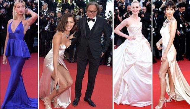 Thảm đỏ LHP Cannes: Dàn sao tuyệt đẹp, siêu mẫu Bella Hadid hở nội y