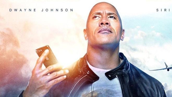 Người máy Siri của Apple trở thành bạn diễn của The Rock trong phim mới