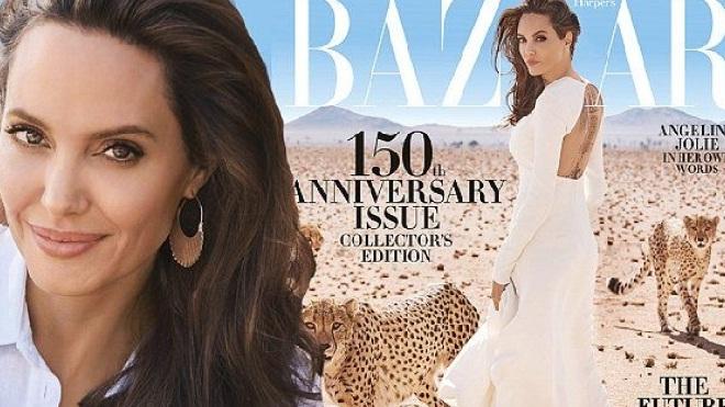 Sau cáo buộc sàm sỡ, Angelina Jolie xuất hiện lộng lẫy trên bìa tạp chí