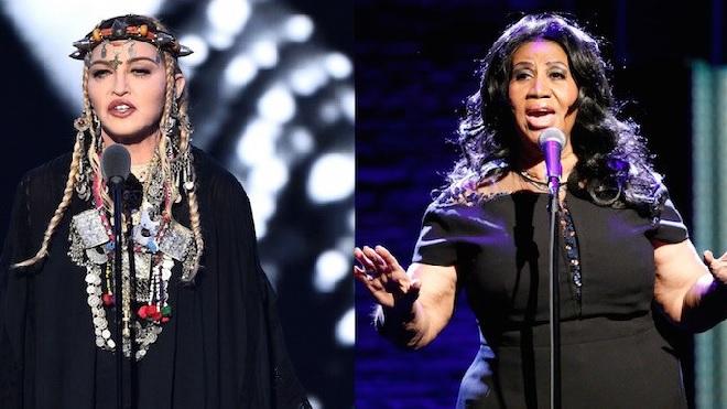MTV VMA: Madonna gây phẫn nộ vì toàn 'tự sướng' trong bài phát biểu tưởng nhớ Aretha Franklin