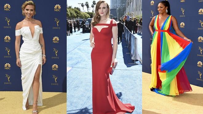 Thảm đỏ Emmy 2018: Người lộng lẫy như nữ thần, kẻ bị chê trang phục như 'chiếc dù', 'quả chuối'