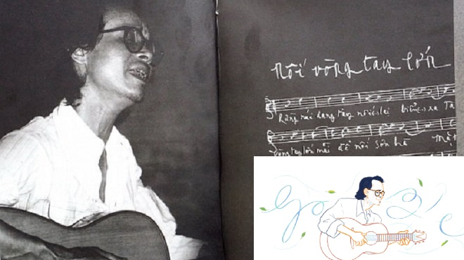 Hình Trịnh Công Sơn nổi bật trên Google trong sinh nhật lần thứ 80