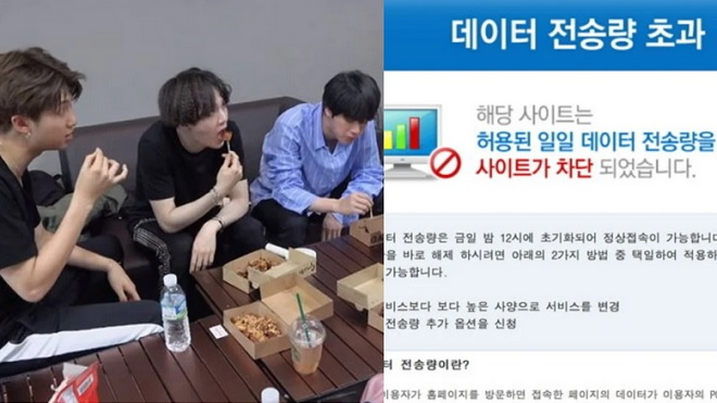Hiệu ứng sao: BTS khoe video ăn gà, cả trang web bán gà... sập!